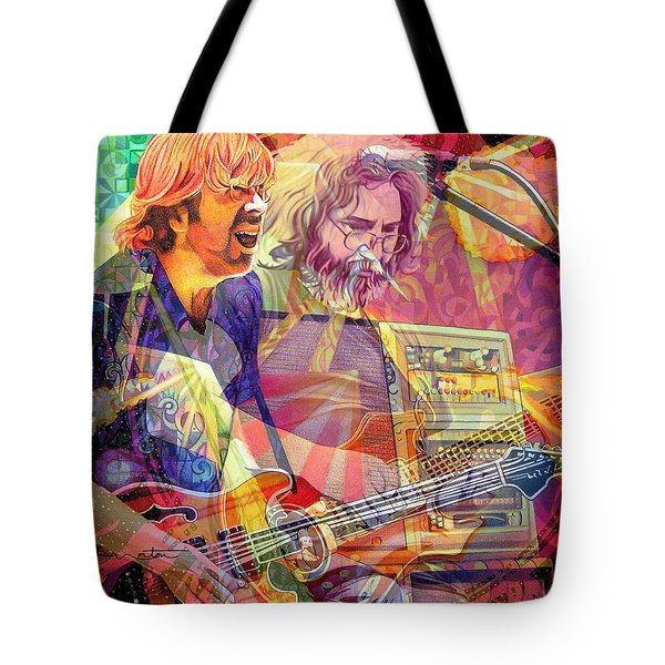 Trey Channeling Cosmic Jerry Tote Bag