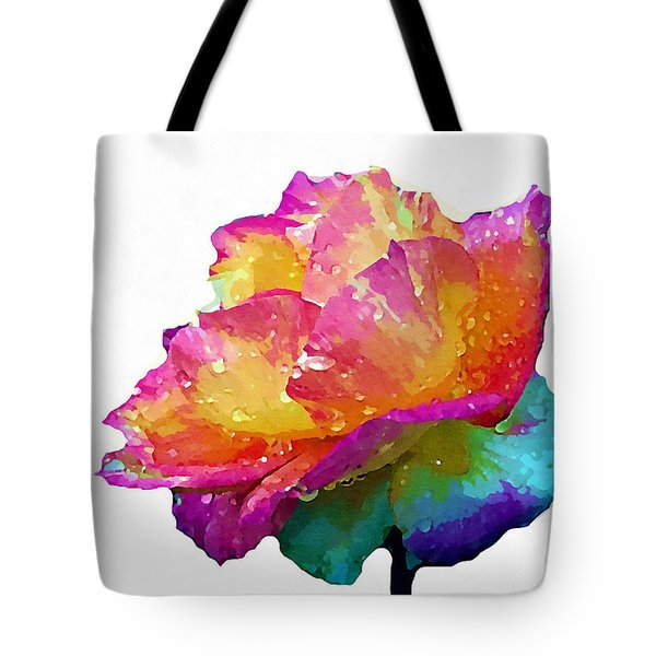 Tote Bag featuring the photograph Tri Color Rose by Joseph Frank Baraba