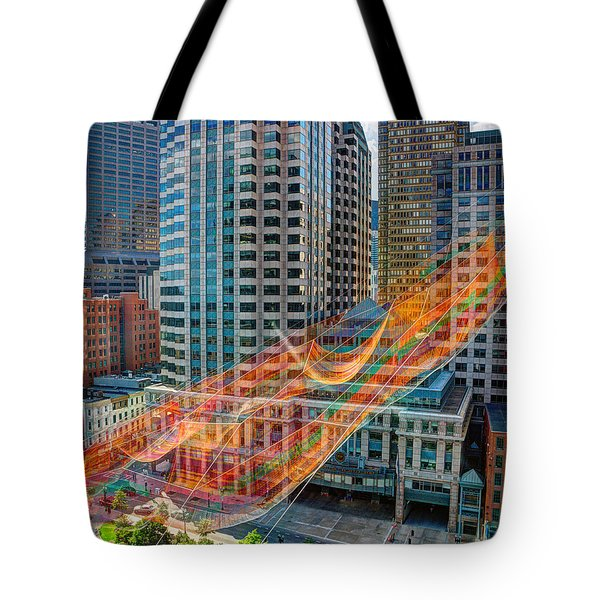 Tri Mountain Sculpture 002 Tote Bag