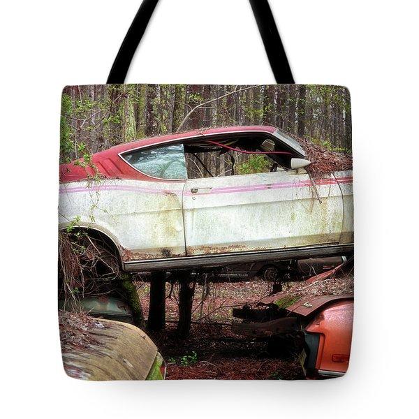 Tri Stack Old Car Image Art Tote Bag
