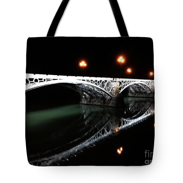 Tote Bag featuring the photograph Triana Bridge by Helge