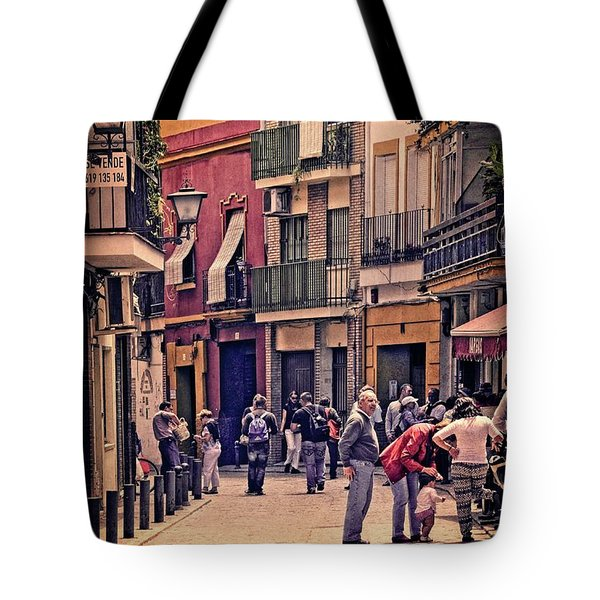 Tote Bag featuring the photograph Triana On A Sunday Afternoon 2 by Mary Machare