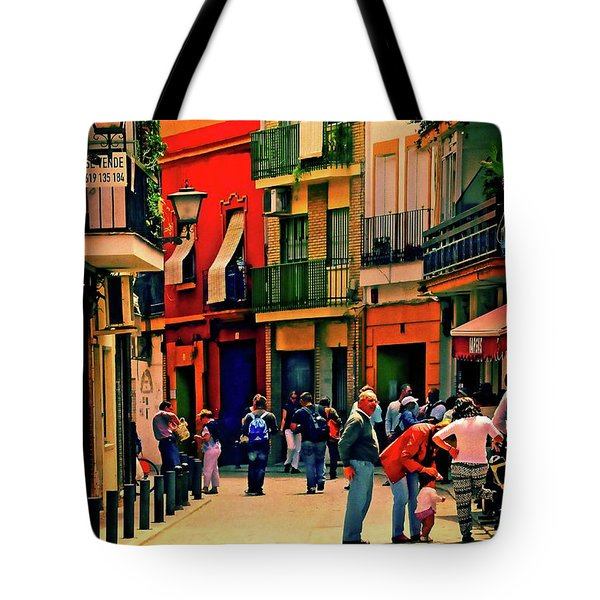 Tote Bag featuring the photograph Triana On A Sunday Afternoon 3 by Mary Machare