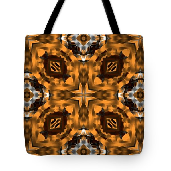 Tote Bag featuring the digital art Triangle Artwork by Sheila Mcdonald