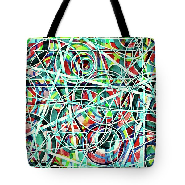 Triangle Interlacing Tote Bag