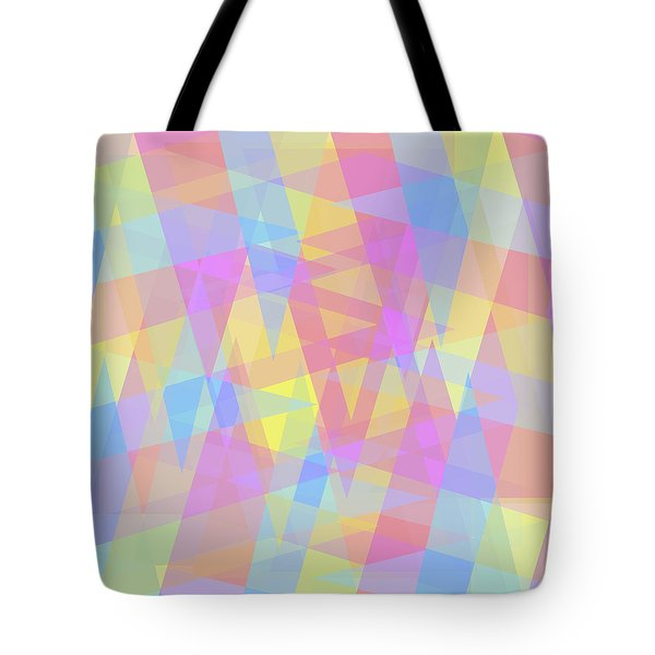 Triangle Jumble 2 Tote Bag by Shawna Rowe