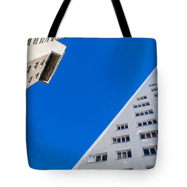 Triangle Modern Building Tote Bag