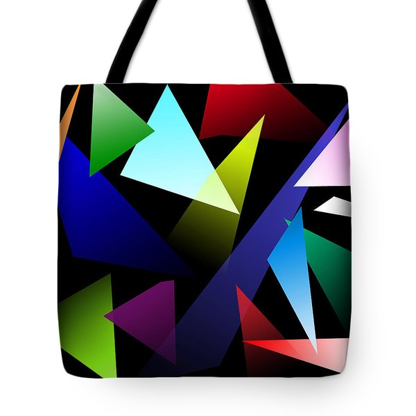Triangles Tote Bag by David Stasiak