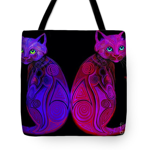 Tribal Cats Tote Bag