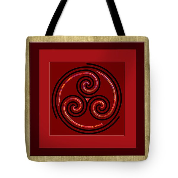 Tribal Celt Triple Spiral Tote Bag by Kandy Hurley