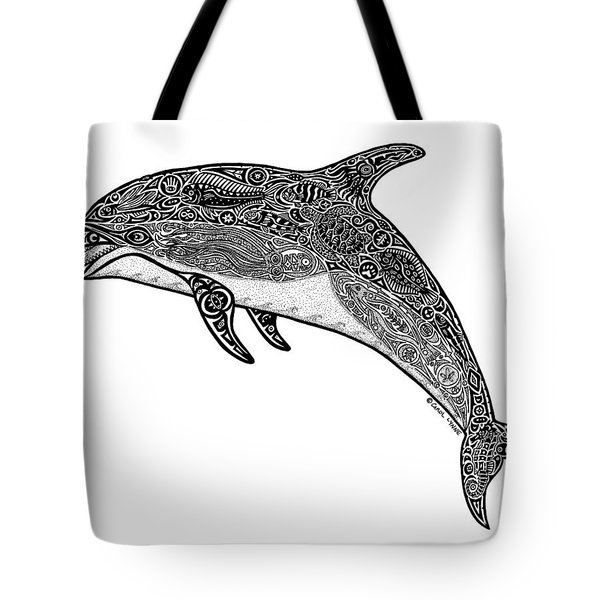 Tribal Dolphin Tote Bag by Carol Lynne