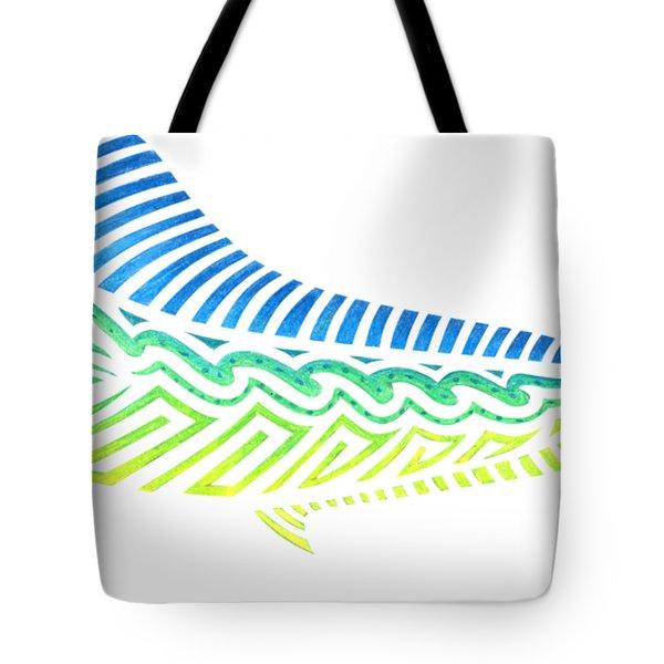 Tribal Mahi Mahi Tote Bag
