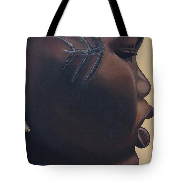 Tribal Mark Tote Bag by Kaaria Mucherera