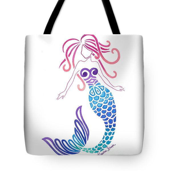 Tribal Mermaid Tote Bag