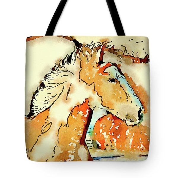 Tribal Pony Tote Bag by Michele Ross