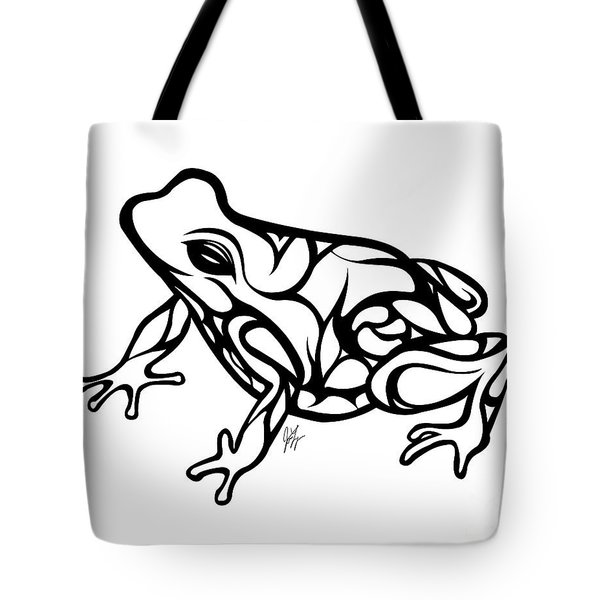 Tribal Ribbet  Tote Bag by Jamie Lynn