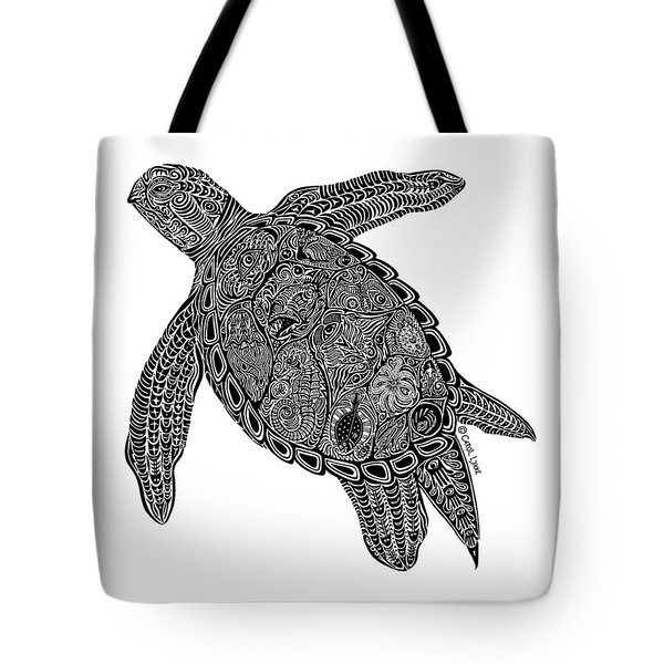 Tribal Turtle I Tote Bag by Carol Lynne