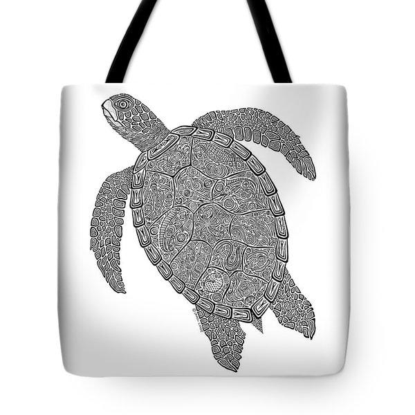 Tribal Turtle II Tote Bag by Carol Lynne