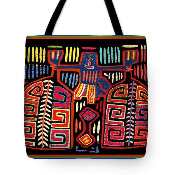 Tribal Woman Fanning Stove Tote Bag