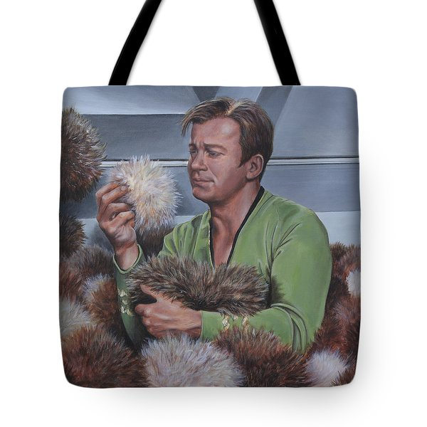 Tote Bag featuring the painting Tribble Trouble by Kim Lockman