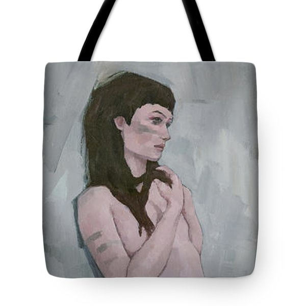 Tote Bag featuring the painting Tribe by Steve Mitchell