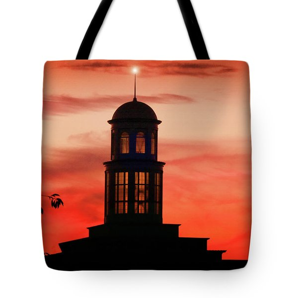 Trible Library Dome At Christopher Newport University Tote Bag
