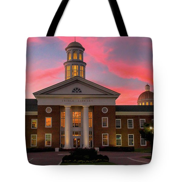 Trible Library Pastel Sunset Tote Bag