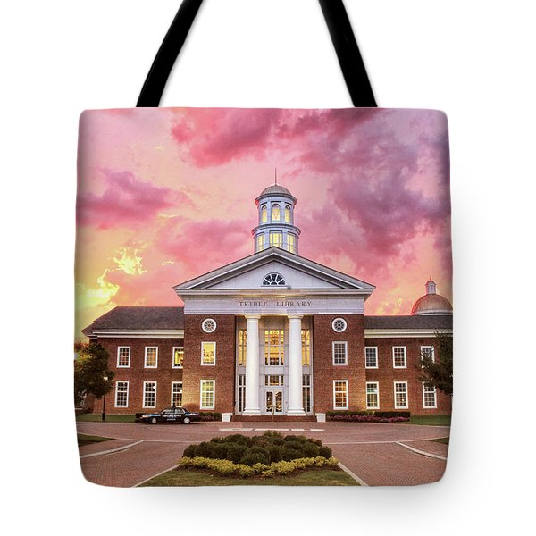 Trible Library Under A Crayola Sky Christopher Newport University  Tote Bag