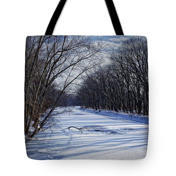 Tote Bag featuring the photograph Tributary by John Gilbert