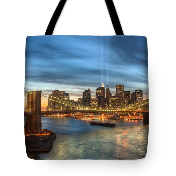Tribute In Light I Tote Bag by Clarence Holmes