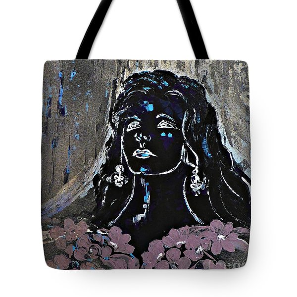Tribute To Amalia Rodrigues Tote Bag by AmaS Art