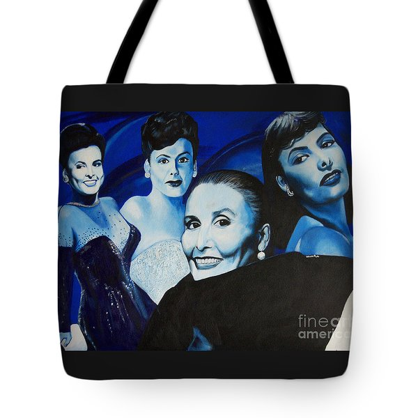 Tribute To Lena Horne Tote Bag by Chelle Brantley