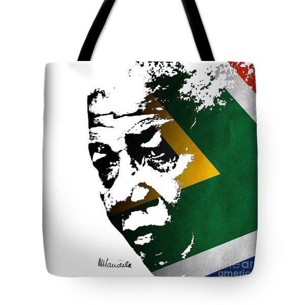 tribute to Nelson Mandela Tote Bag by Rudi Prott