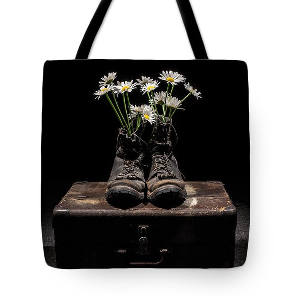 Tote Bag featuring the photograph Tribute To The Fallen by Aaron Aldrich