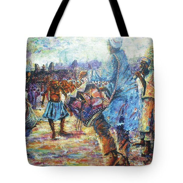 Tribute To The Royal Fathers Tote Bag by Bankole Abe