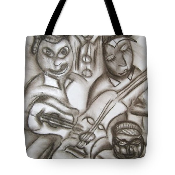 Tribute To The String Bass Tote Bag
