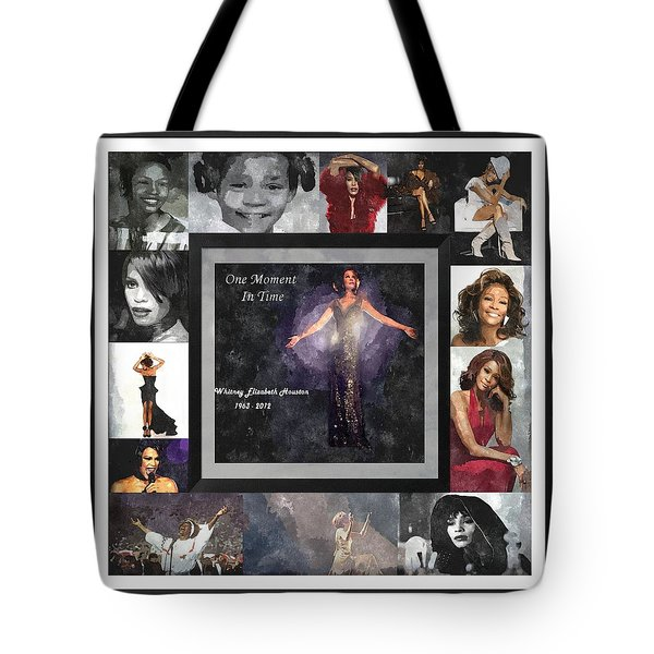 Tribute Whitney Houston One Moment In Time Tote Bag