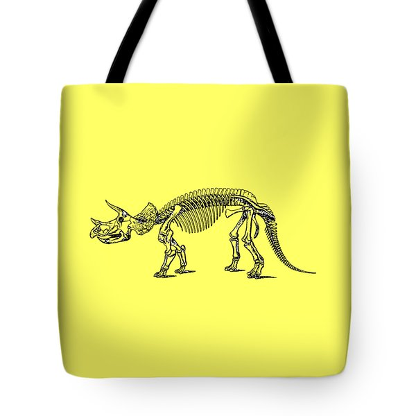Triceratops Dinosaur Tee Tote Bag by Edward Fielding