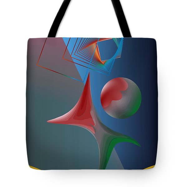Tote Bag featuring the digital art Trick by Leo Symon