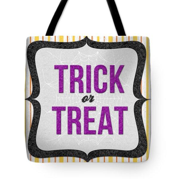 Trick Or Treat- Art By Linda Woods Tote Bag