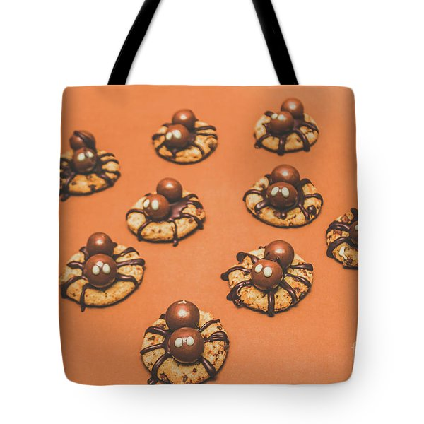 Trick Or Treat Halloween Spider Biscuits Tote Bag