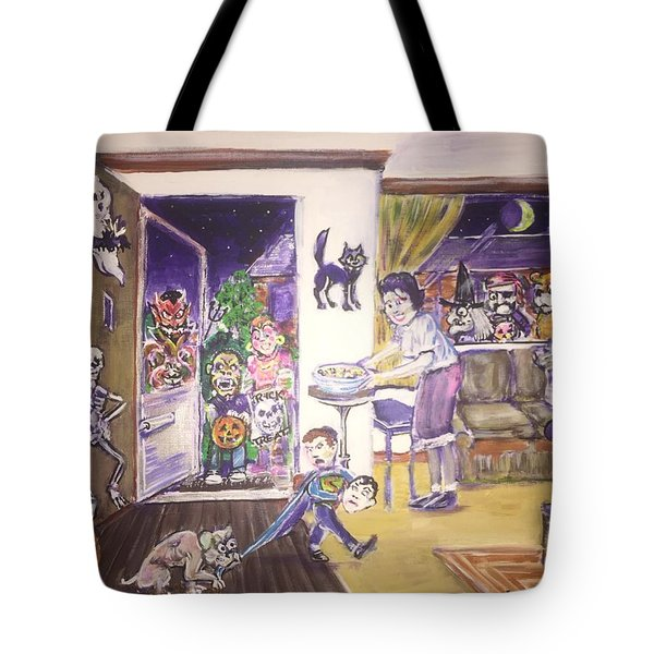 Trick Or Treat On Exeter Street Tote Bag