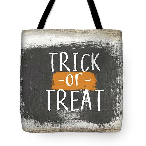Trick Or Treat Sign- Art By Linda Woods Tote Bag