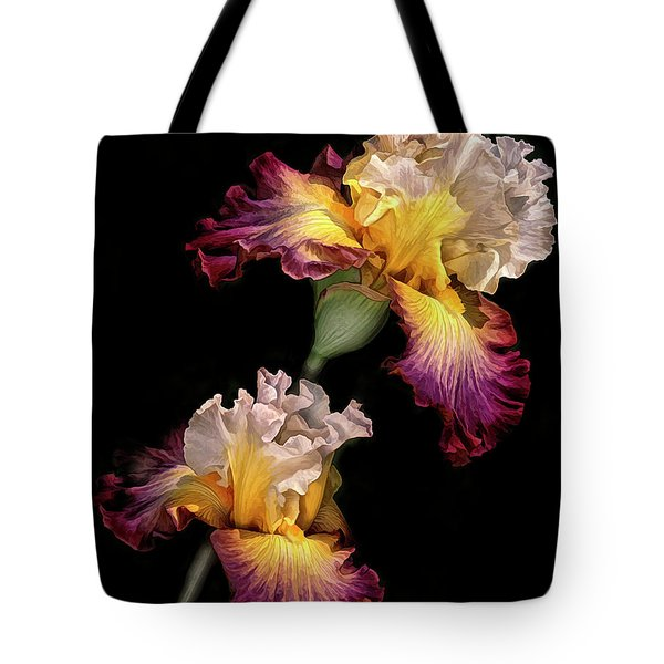 Tricolor Iris Pair Tote Bag