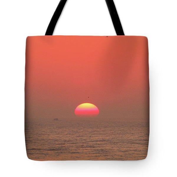 Tricolor Sunrise Tote Bag