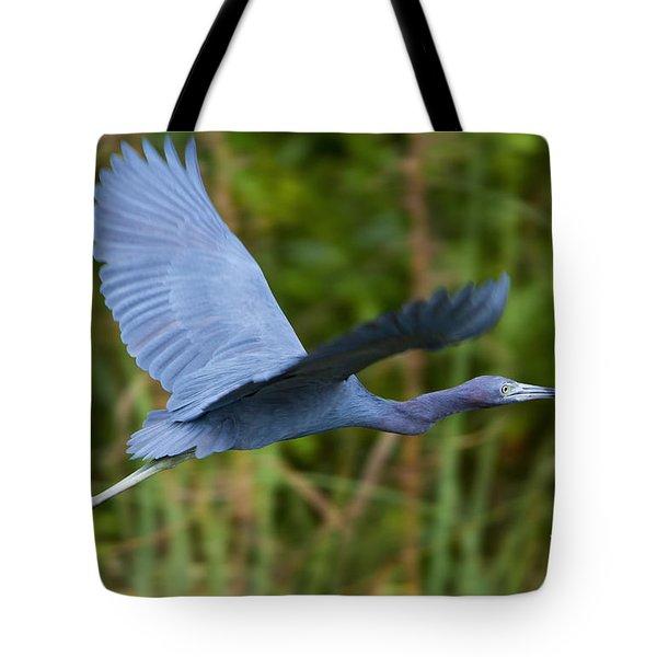 Tricolored Heron Flight Tote Bag