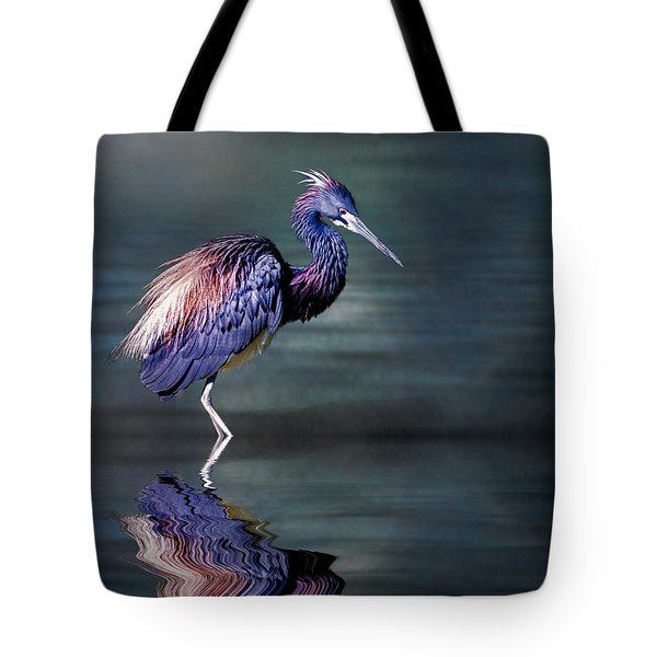 Tote Bag featuring the photograph Tricolored Heron In Breeding Plumage by Brian Tarr