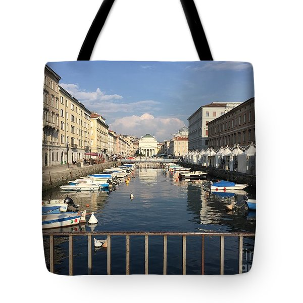 Trieste Grand Canal Tote Bag