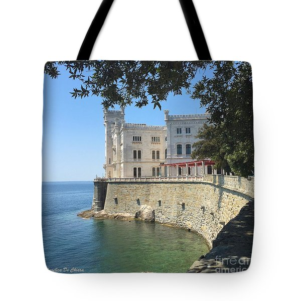 Trieste- Miramare Castle Tote Bag by Italian Art