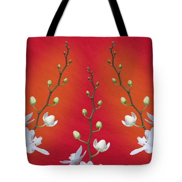 Trifecta Of Orchids Tote Bag